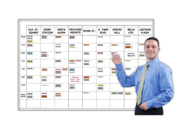 Work Schedule & Organizer 7-Day (column-format)