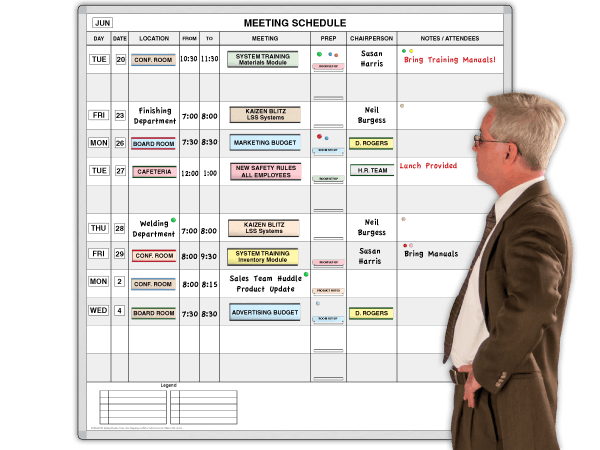 See and schedule meetings with all the details