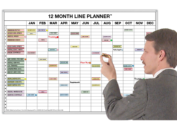 12 Month Magnetic Line-Item Planner. 3 Sizes