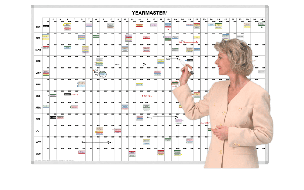 Master 365 Day Magnetic Whiteboard Timeline Calendar