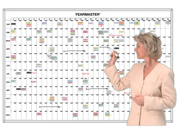 YearMaster® 365-Day Magnetic Dateline Planner