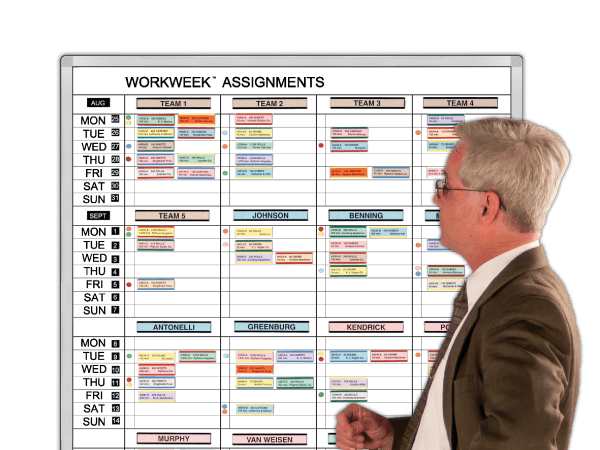 WorkWeek® 7-Day Job Assignment Board Kit