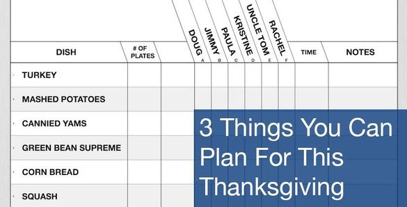3 Things You Can Plan For This Thanksgiving