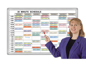 Minute-by-Minute® Time schedules